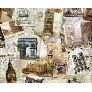 """Упаковочная бумага  (100х70 см) Эд-УБ-234 """"Памятники архитектуры"""" 5 шт."""