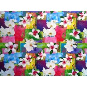 """Упаковочная бумага (100х70 см) Эд-УБ-065 """"Цветы"""" 5 шт."""