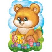 "Плакат фигурный ""Медвежонок"" - Открытка.ЮА. ПЛ-0092/304"