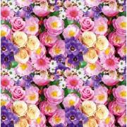 """Упаковочная бумага  (100х70 см) Эд-УБ-367 """"Цветы"""" 5 шт."""
