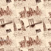"""Упаковочная бумага  крафт темный (100х70 см) Эд-УБ-397-КРТ """"Нью-Йорк"""" 5 шт."""