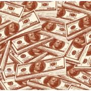 """Упаковочная бумага  крафт темный (100х70 см) Эд-УБ-398-КРТ """"Доллары"""" 5 шт."""