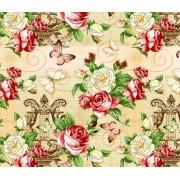 "Упаковочная бумага (100х70 см) Эд-УБ-230 ""Розы, бабочки"" 5 шт."