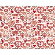 "Упаковочная бумага (100х70 см) Эд-УБ-238 ""Для любимых"" 5 шт."