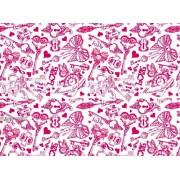 """Упаковочная бумага (100х70 см) Эд-УБ-239 """"Сердечки, ключи"""" 5 шт."""