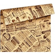 """Упаковочная бумага  крафт темный (100х70 см) Эд-УБ-243-КРТ """"Газеты"""" 5 шт."""