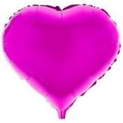 """Воздушный шар фольгированный """"Сердце розовое"""" (1 шт.) №21"""