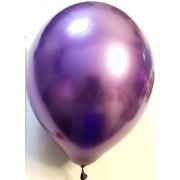 Воздушный шар хром 45 см фиолетовый (1 шт.)