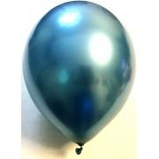 Воздушный шар хром 45 см синий (1 шт.)