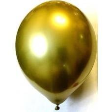 Воздушный шар хром 45 см золотой (1 шт.)