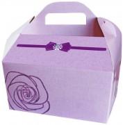 Коробка свадебная КС-02 (розовая, глиттер)