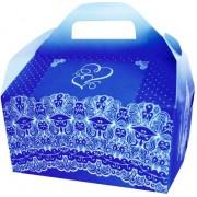 Коробка для гостинцев  КС-31 (синяя, глиттер)
