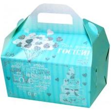 Коробка для гостинцев  КС-35 (мятная, глиттер)