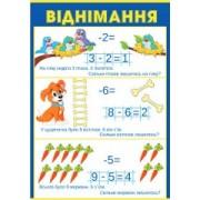 """Плакат навчальний """"Віднімання"""" - Открытка.ЮА. ПЛ-0040/101(у)"""