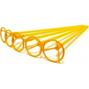 Палочка с розеткой  для воздушного шарика (желтая, 40 см, 1 шт.)