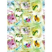"""Упаковочная бумага (100х70 см) Эд-УБ-028 """"Цветы"""" 5 шт."""