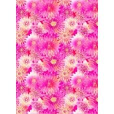 "Упаковочная бумага с пантоном (100х70 см) Эд-УБ-061-П ""Розовые цветы"" 5 шт."