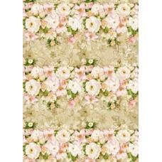 """Упаковочная бумага с пантоном (100х70 см) Эд-УБ-100-П """"Цветы"""" 5 шт."""