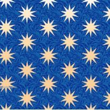 """Упаковочная бумага с пантоном (100х70 см) Эд-УБ-246-П """"Звезды на синем фоне"""" 5 шт."""