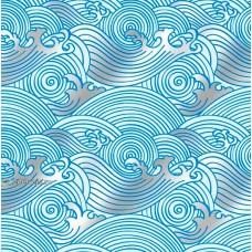 "Упаковочная бумага с пантоном (100х70 см) Эд-УБ-265-П ""Волна"" 5 шт."