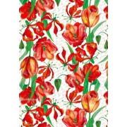 """Упаковочная бумага (100х70 см) Эд-УБ-294 """"Тюльпаны"""" 5 шт."""