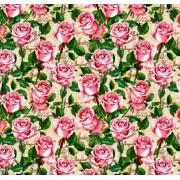 "Упаковочная бумага (100х70 см) Эд-УБ-322 ""Розовые розы"" 5 шт."
