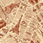 """Упаковочная бумага крафт (100х70 см) Эд-УБ-337-КТ """"Газета"""" 5 шт."""