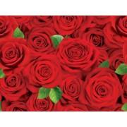 "Упаковочная бумага (100х70 см) Эд-УБ-366 ""Красные розы"" 5 шт."