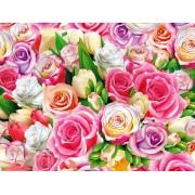 "Упаковочная бумага (100х70 см) Эд-УБ-369 ""Розы"" 5 шт."