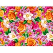 """Упаковочная бумага (100х70 см) Эд-УБ-370 """"Цветы"""" 5 шт."""