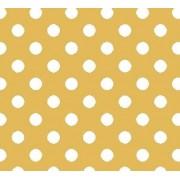 """Упаковочная бумага КРАФТ темный (100х70 см) """"Белый горох"""" 5 шт."""