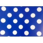 Упаковочная бумага Эд-УБ-Горох-синяя (100х70 см, 5 шт.)