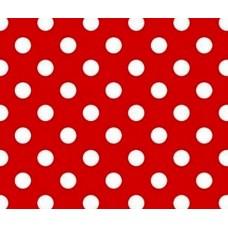 Упаковочная бумага Эд-УБ-Горох-красная (100х70 см, 5 шт.)