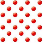 """Упаковочная бумага (100х70 см) """"Красный горох на белом фоне"""" 5 шт."""