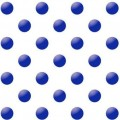 "Упаковочная бумага (100х70 см) ""Синий горох на белом фоне"" 5 шт."