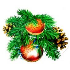 """Набір для декору новорічний """"Кульки, шишки""""  - Этюд ФС-115"""