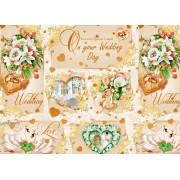 """Пакувальний папір  (100х70 см) Эд-УБ-330 """"Весілля"""" 5 шт."""