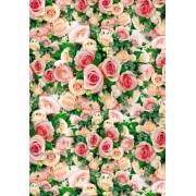 "Упаковочная бумага  (100х70 см) Эд-УБ-348 ""Розовые розы"" 5 шт."