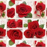 "Упаковочная бумага (100х70 см) Эд-УБ-390 ""Красные розы"" 5 шт."