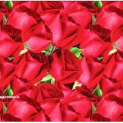 "Упаковочная бумага (100х70 см) Эд-УБ-393 ""Красные розы"" 5 шт."