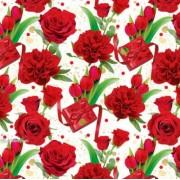 """Упаковочная бумага  (100х70 см) Эд-УБ-394 """"Тюльпаны, розы"""" 5 шт."""