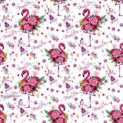 """Упаковочная бумага  (100х70 см) Эд-УБ-400 """"Фламинго"""" 5 шт."""