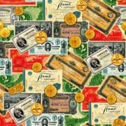 """Упаковочная бумага  (100х70 см) Эд-УБ-411 """"Деньги"""" 5 шт."""