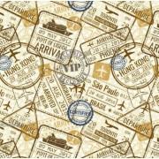 """Упаковочная бумага  (100х70 см) Эд-УБ-359 """"Путешествия"""" 5 шт."""