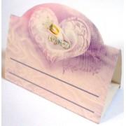 Банкетка (рассадочная карточка) свадебная - Открытка.ЮА. БК-0019/254