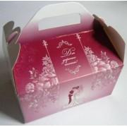 """Коробка свадебная """"Для дорогих гостей!"""" КС-16 (бордовая с молодоженами, глиттер)"""