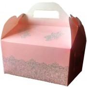 Коробка для гостинцев  КС-25 (светло-розовая, глиттер)