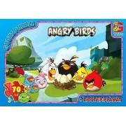 "Пазл ТМ ""G-Toys"", 70 элементов, постер  B001022-81 ""Angry Birds"" (210х300 мм)"
