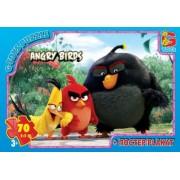 "Пазл ТМ ""G-Toys"", 70 элементов, постер  B001027-82 ""Angry Birds"" (210х300 мм)"