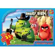 "Пазл ТМ ""G-Toys"", 35 элементов, постер  B001028-61 ""Angry Birds"" (210х300 мм)"